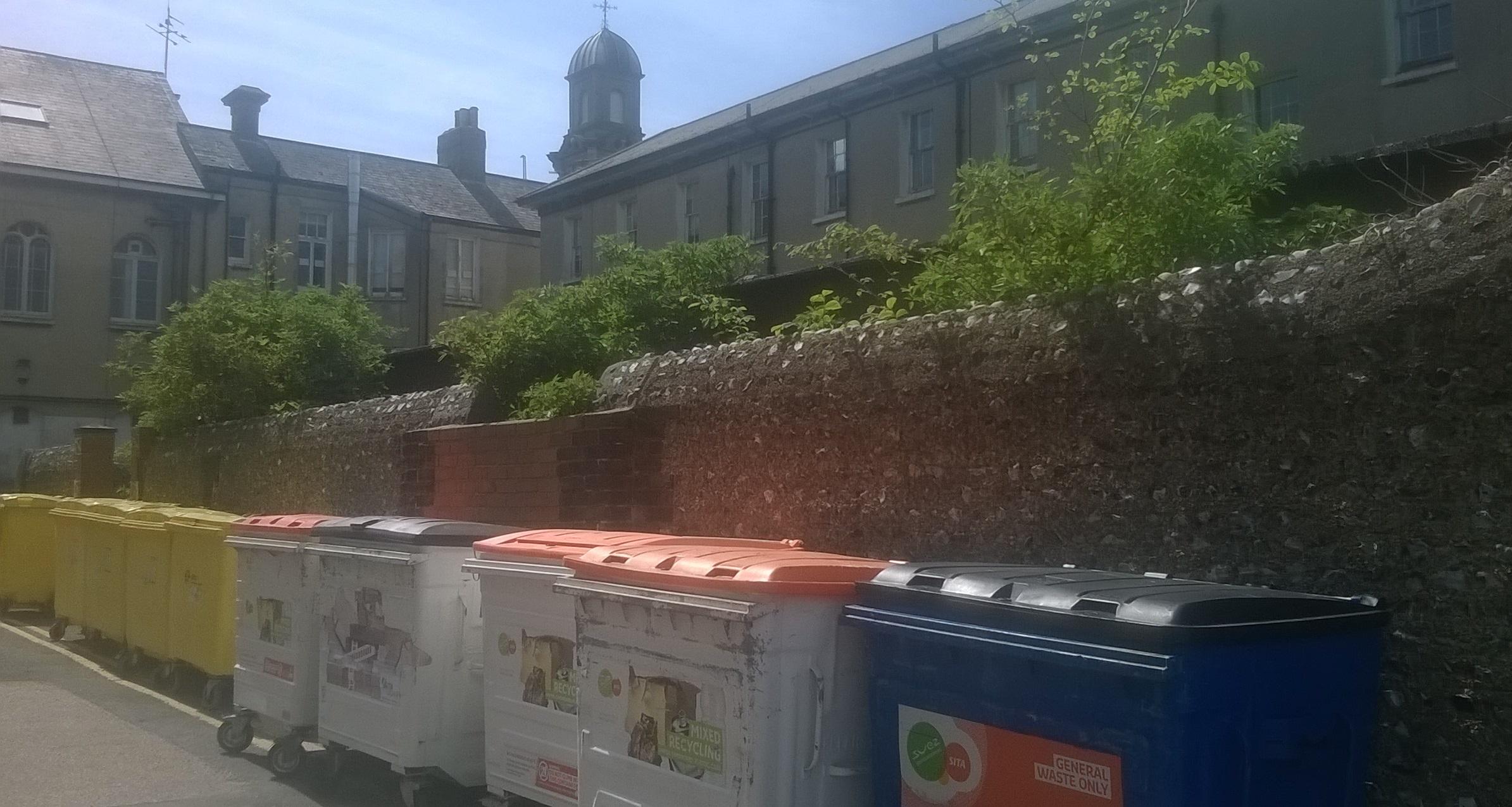 waste removal Sussex Community Trust external waste bins