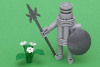 Lego warrior with Flowers