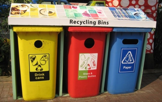 """NEA recycling bins, Orchard Road"""" by Terence Ong - Own work. Licensed under CC BY 2.5 via Commons"""