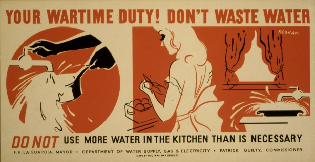 As this vintage poster shows, being water-wise has been around awhile!